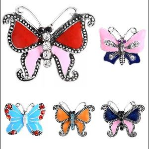 Interchangeable butterfly charms 3 for $10